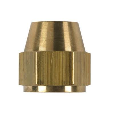 "JMF 41153 Flare Nut - 3/8"", Yellow Brass"