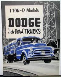 1951 Dodge Truck D Models One Ton Sales Brochure Stake Express Original