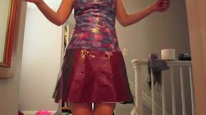 how to make duct tape dress part 2 youtube
