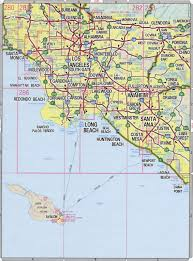 Los Angeles County Highway Map Detailed Of California