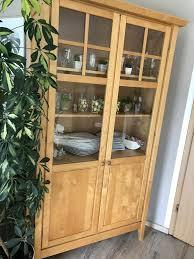 esszimmer schrank vitrine echtholz massivholz