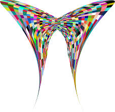 Clipart Colorful Geometric Butterfly 4