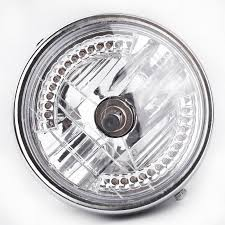 8 halo motorcycle headlight led turn signal with h4 bulb for