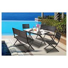 Premium Poly Patios Complaints by Faux Bamboo Patio Furniture Target