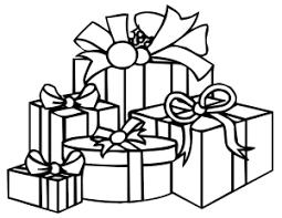 Present black and white presents clipart black and white