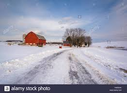 Snow Covered Road And Red Barn On A Farm In A Rural Area Of York ... The Barn On Bridge Partyspace Why Apples Futuristic 5 Billion Campus Has A Random Centuryold Barn The Farm I Grew Up In Fingerlakes Region Of New Crane Estate Best 25 Converted Ideas Pinterest Cabin Barns And Snow Covered Road Red Rural Area York Winter View Snow Field At Sunset Rocky Fork Creek Desnation Steakhouse Gahanna Oh Birch Trees Ptakan Round Snowy Winters Day