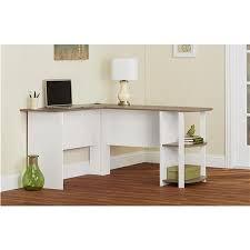 ameriwood furniture l shaped desk with 2 shelves in black ebony
