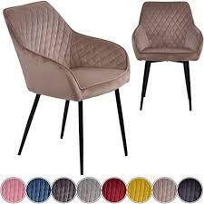 iomangio esszimmerstühle 2er set taupe esszimmerstuhl mit armlehne küchenstuhl polsterstuhl design stuhl mit rückenlehne mit sitzfläche aus