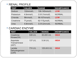 bun levels normal range lab values renal profile and cardiac enzymes nursing