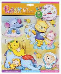 Fab N Funky Room Decor 3D Foam Baby Animal Stickers Online In India Buy At