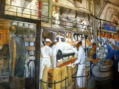 Coit Tower Murals Controversy by Interior Mural Coit Tower San Francisco Wpa Muralists San