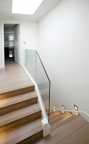 40 Stair Railings Of Glass – Airy Feel In The Interior Design Of ... Stairs Amusing Stair Banisters Baniersglsstaircase Create Unique Metal Handrailings With Pinnacle Staircase And Hall Contemporary Artwork Glass Banister In Best 25 Glass Balustrade Ideas On Pinterest Handrail Wwwstockwellltdcouk American White Oak 3 Part Dogleg Flight Frameless Stair Railing Elegant Safety Architecture Inspiring Handrails For Beautiful Amusing Stright Banister With Base Frames As Decor Tips Cool Banisters Ideas And Newel Detail In Brown
