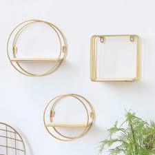 eisen gold wandregal quadratisches rundes regal rustikale