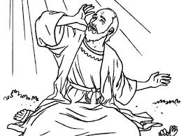 Saul On The Road To Damascus Coloring Page AZ Pages
