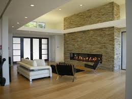 Fireplace Niche Decorating Ideas Living Room Modern With Can Lights Hardwood Floors
