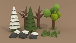 Polytree Christmas Tree Fuses by Pigart Blender Tutorial Low Poly Forest Assets Youtube