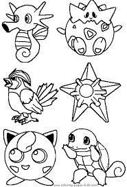 Pokemon Coloring Page Pikachu Pages Free