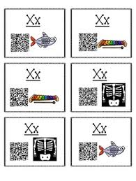 Activities Letter Sound QR Code Task Cards the Letter X