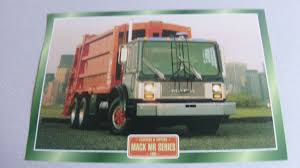 Mack MR Series 1980 Rubbish Truck Framed Picture