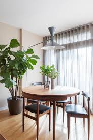 London Square Plant With Contemporary Dining Room Chairs Transitional And Leather Pad Midcentury Lighting