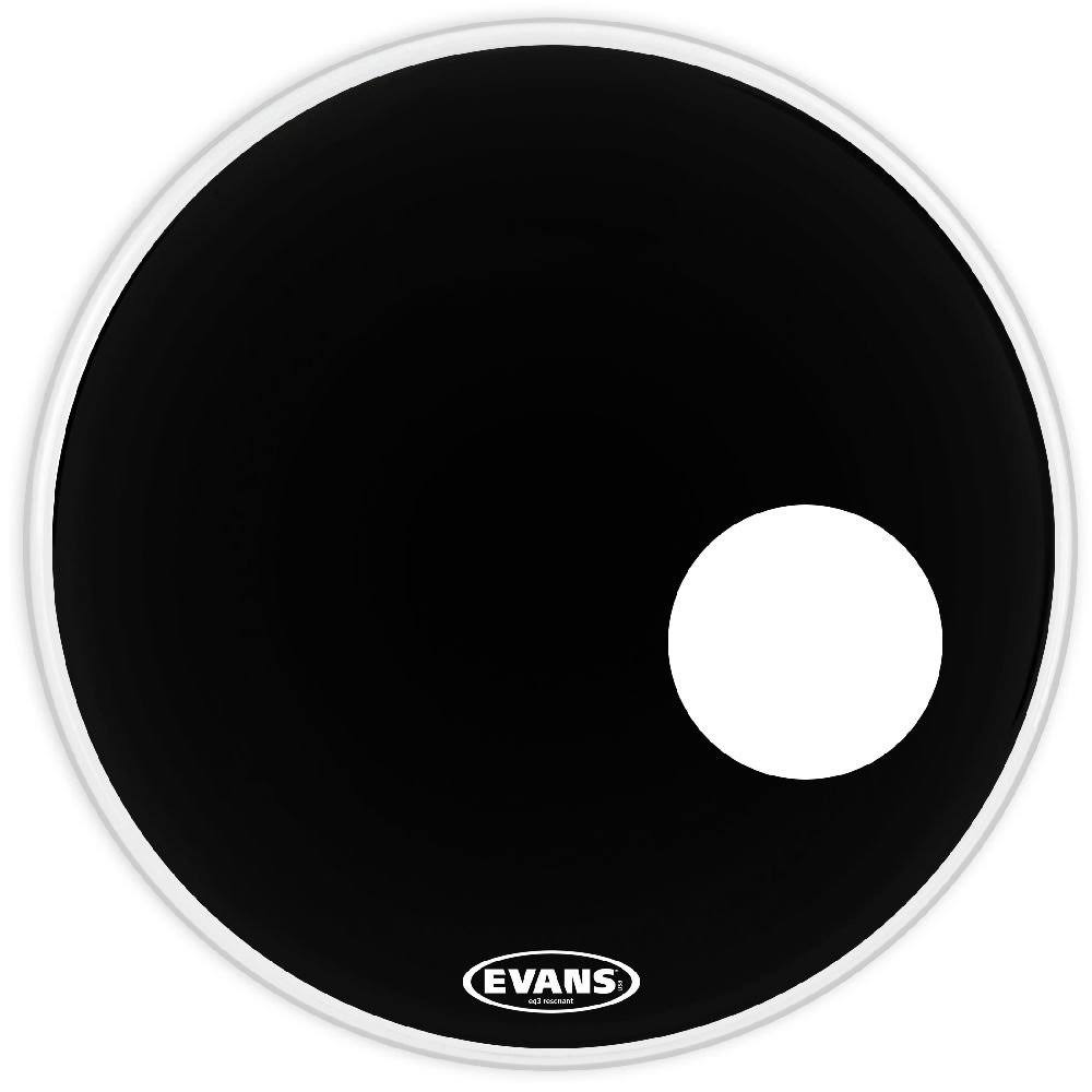 Evans EQ3 Resonant Bass Drum Head - Black, 22''