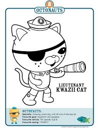 Octonauts Character Coloring Pages My Sons Favorite Cartoon