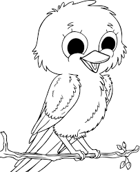 Baby Sparrow Birds Coloring Pages