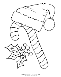 Candy Cane Free Coloring Pages For Kids