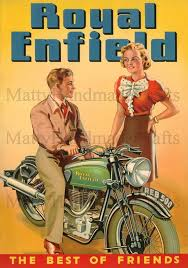 Royal Enfield Bullet 500 Advertising 1930s Print