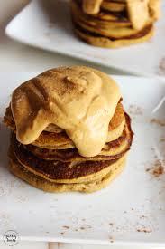 Pumpkin Pancakes With Gluten Free Bisquick by Flourless Pumpkin Plantain Pancakes With Pumpkin Whipped Cream