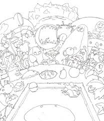 Plants VS Zombies Coloring Pages Team Colors Plants Vs Zombies