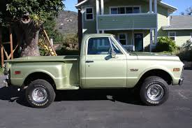 100 1972 Chevy Truck 4x4 GMC CHEVY K 10 SHORT BED STEP SIDE 4 SPEED CALIFORNIA
