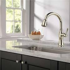 delta faucets cassidy single handle kitchen faucet polished nickel
