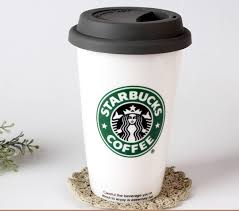 High Quality Ceramic Mug Coffee White Large Starbucks Cups And Mugs With Cover Lid Original