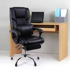 pied pour bureau songmics fauteuil de bureau chaise pour ordinateur avec repos pieds