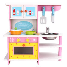 Wooden Kitchen Kids Kitchen Playset Little Chef Pretend Cooking