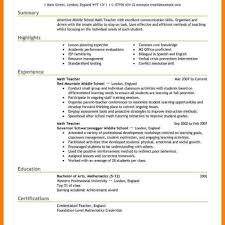 Teacher Resume Examples Education Samples Summary Highlight 18 Free Educator Template For Word And Pages Principal Regarding Teaching Templates