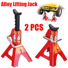 100 Axial Rc Trucks 6 TON 2Pcs Alloy 110 Scale Jack Stands For SCX10 TAMIYA CC01