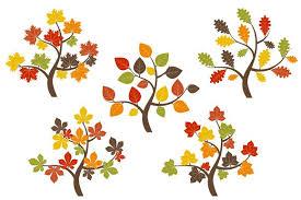 Fall Trees Clip Art Illustrations