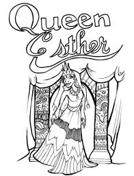 Free Bible Coloring Pages Queen Esther Page Children S