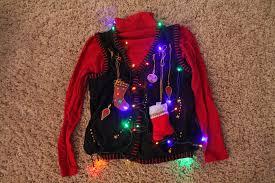 Leg Lamp Christmas Sweater Diy by Ugly Christmas Sweater With Lights Christmas Lights Decoration