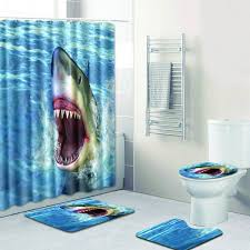 Details About Christmas Gifts 3D Printed Shower Curtain Waterproof Bathroom Set With 12 Hooks