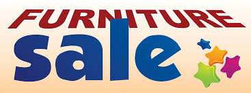 Furniture Sale Large 3x8ft Color Banner Sign White Blue Orange