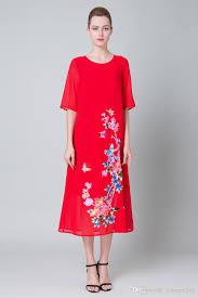 2017 summer high end female crew neck short sleeve embroider long