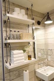 Farmhouse Bathroom Hanging Over-Toilet Shelves | House Ideas ... Small Space Bathroom Storage Ideas Diy Network Blog Made Remade 15 Stunning Builtin Shelf For A Super Organized Home Towel Appealing 29 Neat Wired Closet 50 That Increase Perception Shelves To Your 12 Design Including Shelving In Shower Organization You Need To Try Asap Architectural Digest Eaging Wall Hung Units Rustic Are Just As Charming 20 Best How Organize Tiny Doors Combo Linen Cabinet