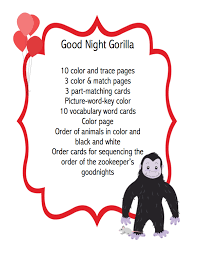 Goodnight Gorilla And Friends Clipart