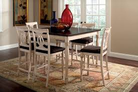 Delectable Furniture White With Black Square Cuhsion Counter Height Bar Ella Dining Room And Nyc Function