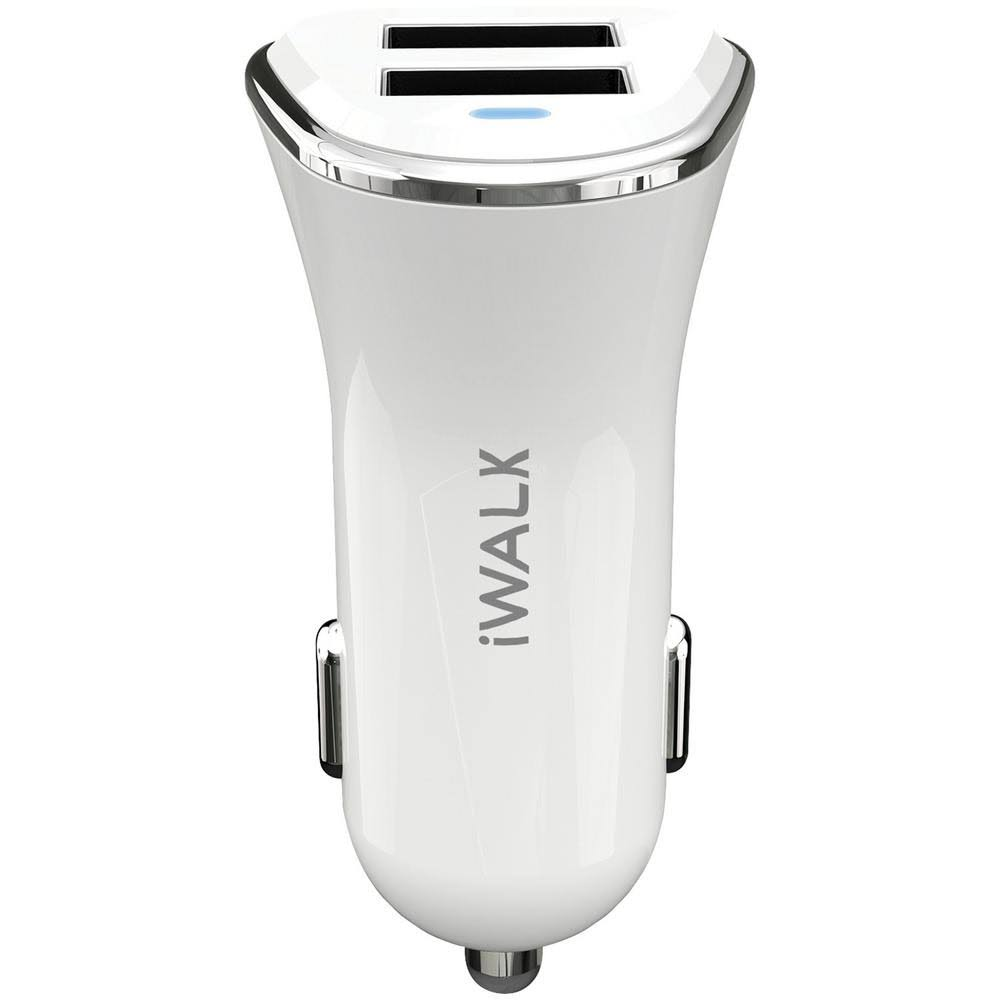 Iwalk CC001N-002A Car Charger with Dual USB Ports (White)