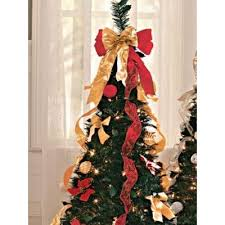 N A Pull Up Decorated Christmas Tree Red Size 4FT