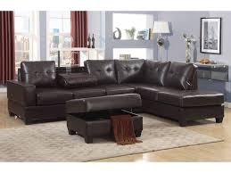 Poundex 3pc Sectional Sofa Set by Emily 3 Piece Faux Leather Reversal Sectional Sofa Set With